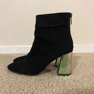 Zara Super Chic Suede Boots Size 36